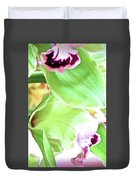 Pink Orchid With Green 1 Duvet Cover