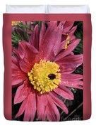 Pink Pasque Flower Duvet Cover