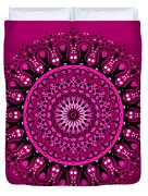 Pink Passion No. 3 Mandala Duvet Cover