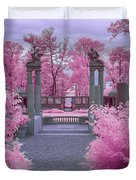 Pink Path To Paradise Duvet Cover