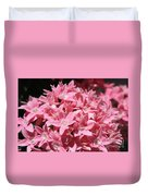Pink Pentas Beauties Duvet Cover