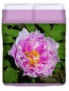 Pink Peony Blossom Duvet Cover