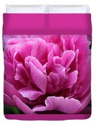 Pink Peony Watercolor Duvet Cover
