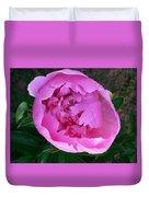 Pink Peoony In Bloom Duvet Cover