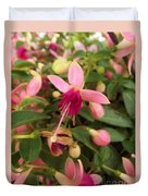 Pink Petalled Fuchsia Blooms              May         Indiana Duvet Cover