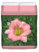 Pink Petals - Chorus Line Daylily Duvet Cover