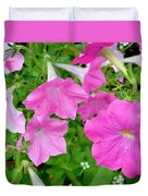 Pink Petunia Flower 11 Duvet Cover