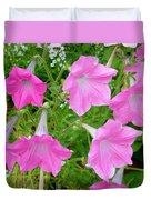 Pink Petunia Flower 9 Duvet Cover