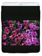 Pink Petunias Duvet Cover