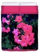Pink Phlox Duvet Cover