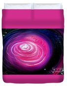 Pink Planet With Diffusing Atmosphere Duvet Cover