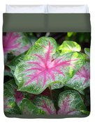 Pink Plants Duvet Cover