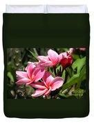 Pink Plumeria Duvet Cover
