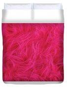 Pink Plush Fabric Duvet Cover