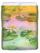 Pink Pond Duvet Cover