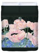 Pink Poppies Duvet Cover