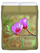 Pink Poppies In Rancho Santa Ana Botanic Garden In Claremont-california Duvet Cover