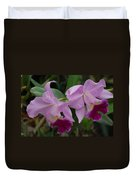 Pink Purple Orchids Duvet Cover