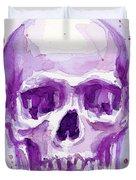 Pink Purple Skull Duvet Cover