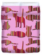 Pink Pussy Cat Duvet Cover