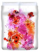 Pink Reef Duvet Cover