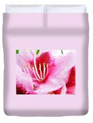 Pink Rhodie Flowers Art Prints Canvas Rhododendrons Baslee Troutman Duvet Cover