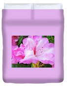 Pink Rhododendron Art Print Floral Canvas Rhodies Baslee Troutman Duvet Cover