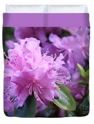 Light Purple Rhododendron With Leaves Duvet Cover