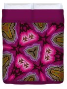 Pink And Gold Eruption Duvet Cover