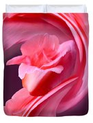 Pink Roas In A Swirl Duvet Cover