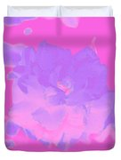 Pink Rose Abstract Duvet Cover