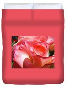 Pink Rose Art Prints Floral Summer Rose Flower Baslee Troutman Duvet Cover