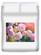 Pink Rose Artwork Duvet Cover