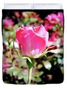 Pink - Rose Bud - Beauty Duvet Cover