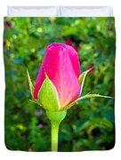 Pink Rose Bud Duvet Cover