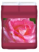 Pink Rose Close Up Duvet Cover