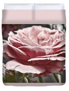 Pink Rose Faded Duvet Cover
