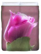 Pink Rose In Light Duvet Cover