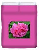 Pink Rose In Profile Duvet Cover