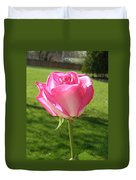 Pink Rose In The Sunlight Duvet Cover