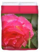Pink Rose Duvet Cover by Kelly Hazel