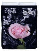 Pink Rose Of Imperfection Duvet Cover