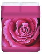 Pink Rose Pastel Painting Duvet Cover