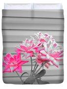 Pink Rose Tree Pop Duvet Cover