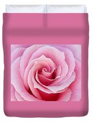 Pink Rose With Raindrops Duvet Cover