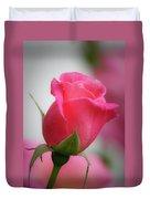 Pink Rosebud 1 Duvet Cover