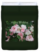Pink Roses Birthday Card Duvet Cover