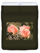 Pink Roses Fine Art Photography Print Duvet Cover