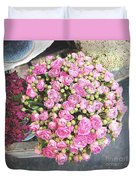 Pink Roses Photograph Duvet Cover