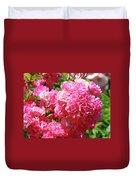 Pink Roses Summer Rose Garden Roses Giclee Art Prints Baslee Troutman Duvet Cover